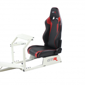 GTA™️ Model Simulator with White Frame & Adjustable Racing Seat – Color Options Available GTR Pass Discounted